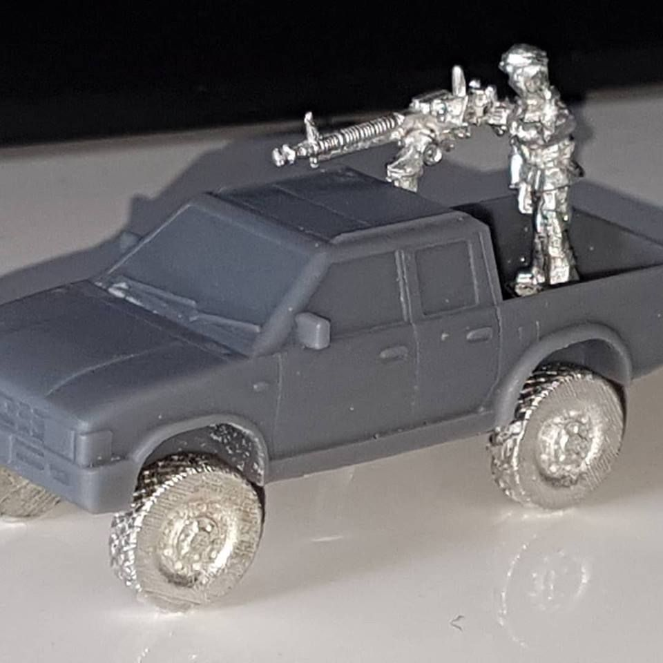 VCV10-INS Generic 4x4 Pickup truck double cab with road wheels and Insurgen