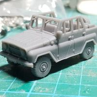 VCV12W UAZ469 Soviet/Russian 'Jeep' no roof but all window frames in place version