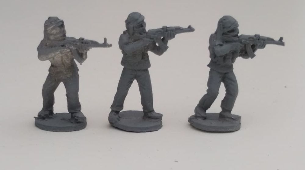 INS22 Insurgents with AKs in Shemagh chest rigs skirmishing