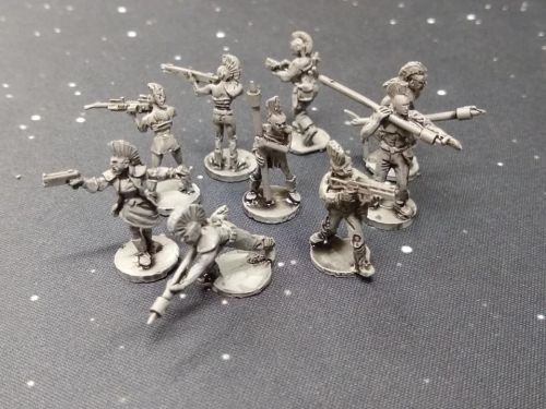 DF03 10x Post Apoc Punks with mohawks with mixed weapons - Army Builder