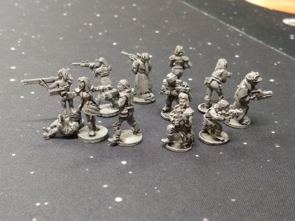 DF04 10x Post Apoc Warriors with battered clothes with mixed weapons - Army