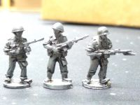 UNI03 UN Ireland 1961 Congo FAL riflemen, M45 smg in steel and plastic helmet