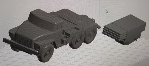 BM-21 Rocket Launcher Truck