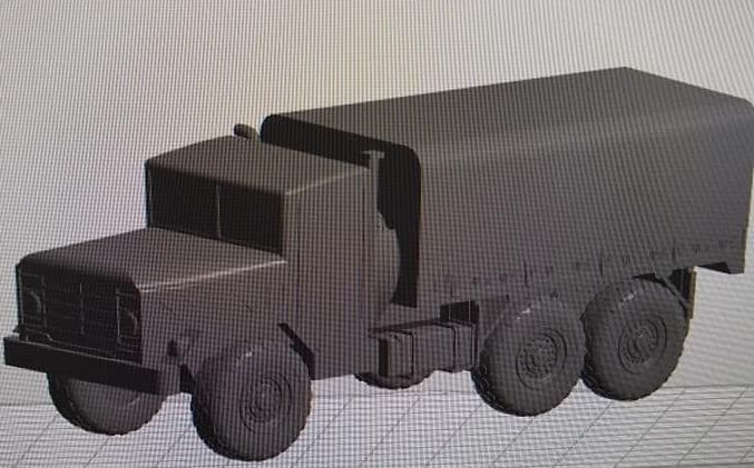 M923 Medium truck Covered back (solid)