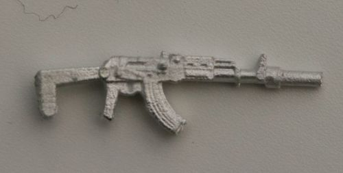 AK47S/AKMS Silencer fitted.Folding stock extended version