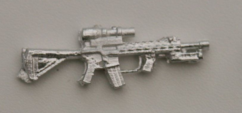 AR4 Civilian M4 with rails, 6x scope, bipod folded etc