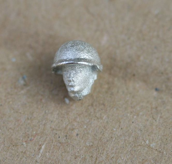 HED52 African Male head US M1 style helmet no strap