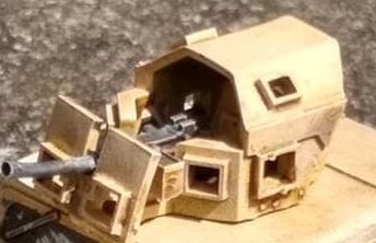 GPK02B GPK  (Heavy, Late version)Turret with .50 HMG SINGLE RESIN PART vers