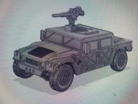 VMUS06d HMMWV M998 / M1123 Early Hard top version with TOW launcher