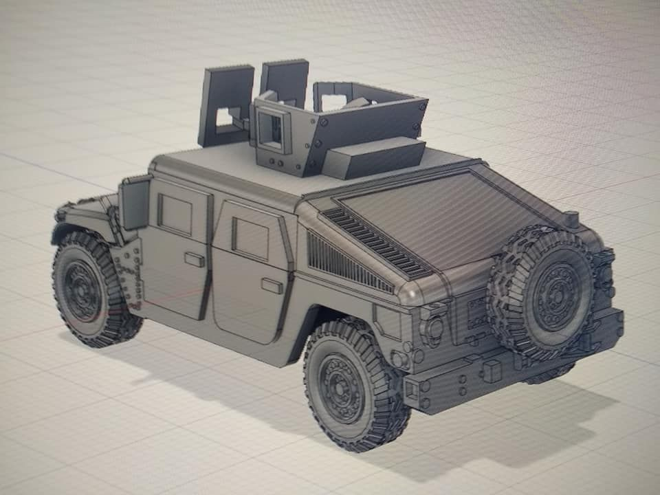 VMUS08c HMMWV M1114 up armoured with GHK Late version and SPARE wheel mount