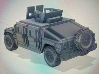 VMUS09c HMMWV M1116 up armoured with GHK Late version and SPARE wheel mounted on rear