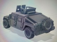 VMUS10b HMMWV M1151 Armoured with GHK Late version and SPARE WHEEL
