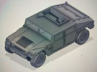 VMUS07e HMMWV Custom WW3 Cover Version with cutout roof and weapon mount