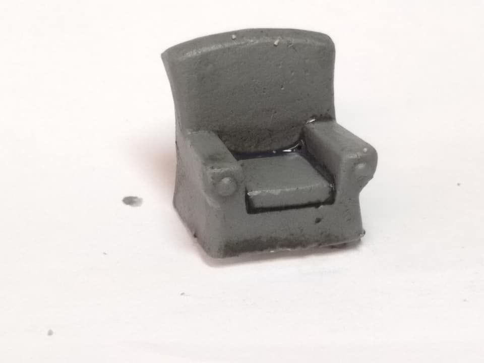 ESKA01 Comfy Chair (cast in metal)