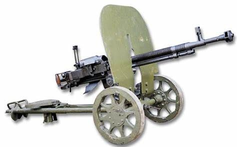GUN19 Russian Dhsk HMG on wheeled carriage