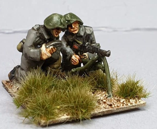 DAN09 WW2 Danish Infantry MMG team and Madsen Tripod