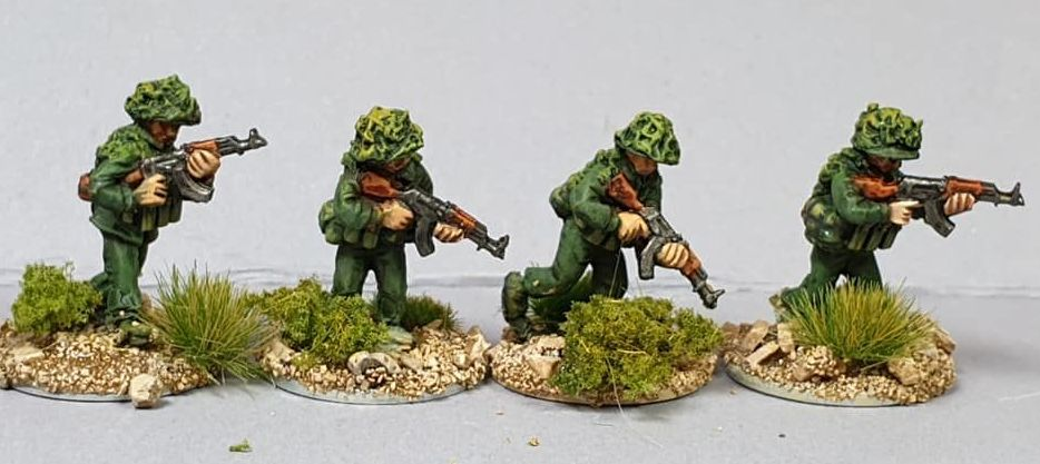 NVA15 North Vietnam Army Sappers skirmish/advance with AK, charges and camo