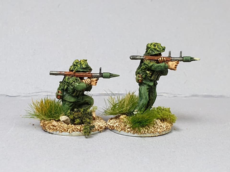 NVA20 North Vietnam Army Sappers with B40/RPG2 rockets.