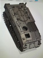 VBA03A FV432 Delux version with driver and commander hatches open (British Army)