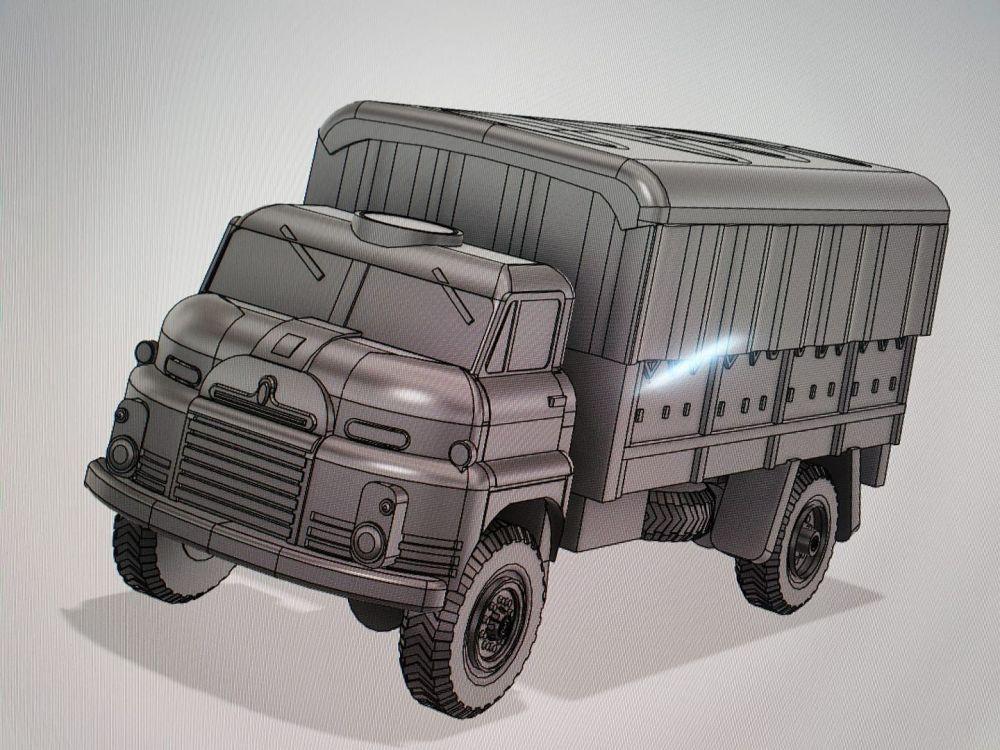 VBA05B British RL  truck, canvas tilt version