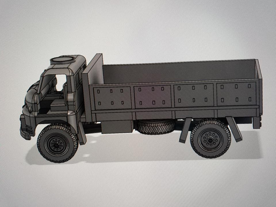 VBA05c British RL  truck, NO doors and open back version