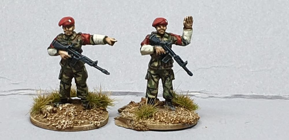 BAOR17 Royal Military Police in berets armed with SLRs