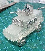 RG32a Base version with extra Turret (with gunner and gun), hatch, RWS and window armour.