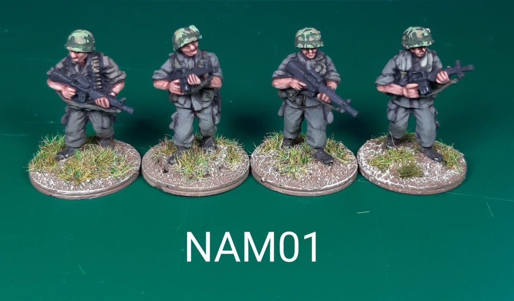 NAM01 - US Army M16s Advancing