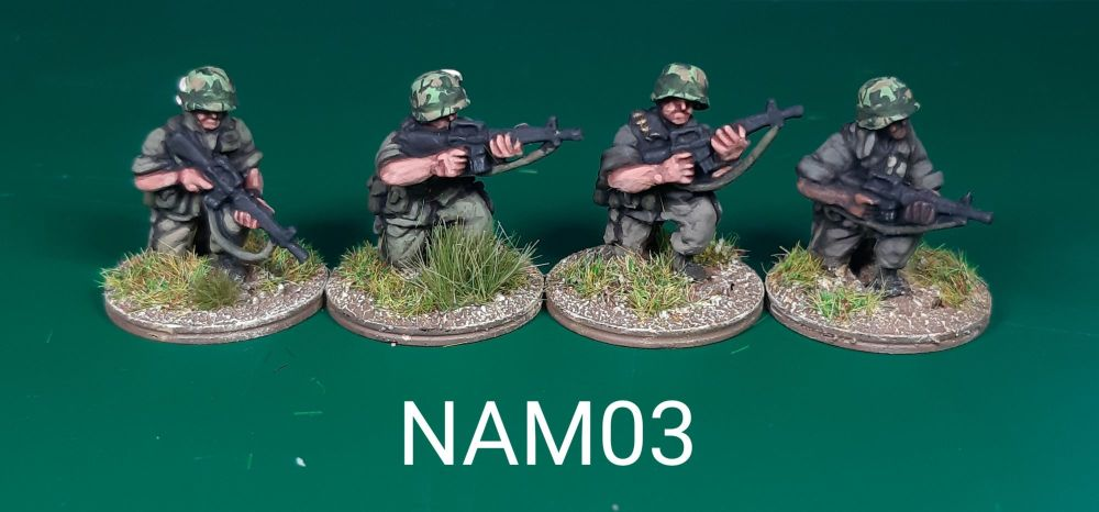 NAM03 - US Army M16s Kneeling