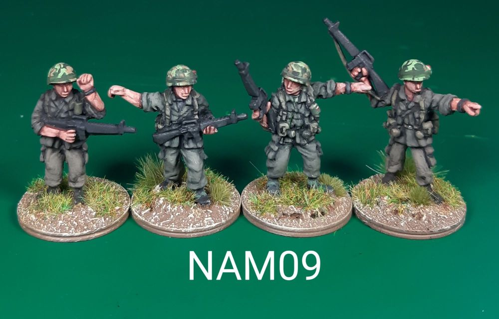 NAM09 - US Army NCO armed with M16 pointing