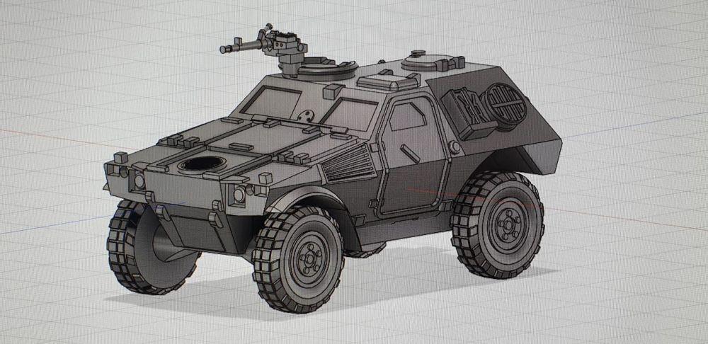VF03 Panhard VBL AC basic version (Hatches open, AA52 LMG)