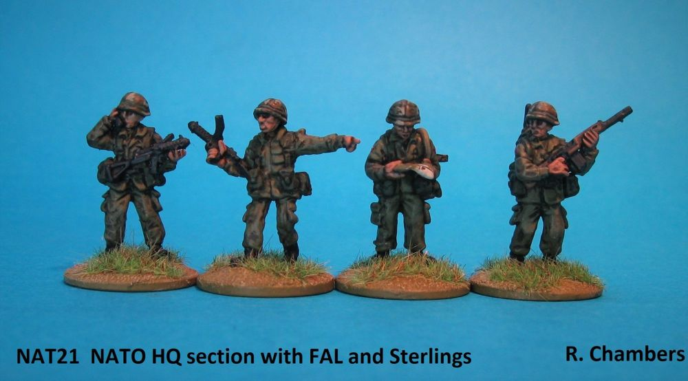 NAT21 NATO HQ section with FAL and Sterlings. New Mould!