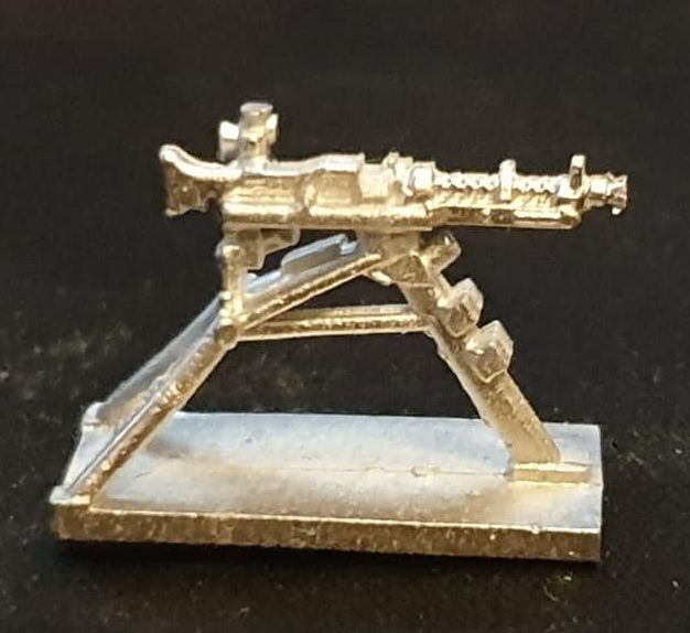GUN46 MG34 on RAISED Lafette Tripod mode new CAD design.