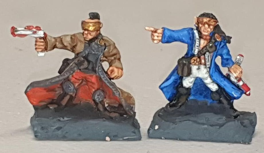 SIFI07 Acturian Pirate Captains with Ripper Guards
