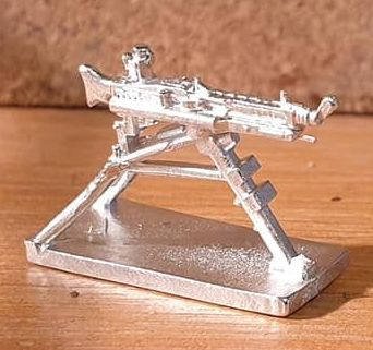 GUN49 MG342 on RAISED Lafette Tripod mode new CAD design.