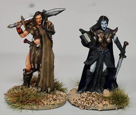FAN04 Female Fighter and Elf Sorceress