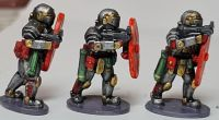 SL01 StarLegion Hastati armed with Gladius SMG and Energy Shields used for front line assault.