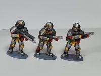 SL05 Star Legion Triarii advance armed with Spatha rifles and DMR for ranged combat and support.