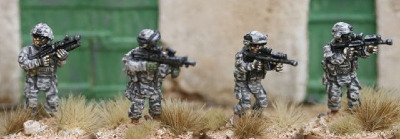 IOT02 US Army fireteam skirmishing