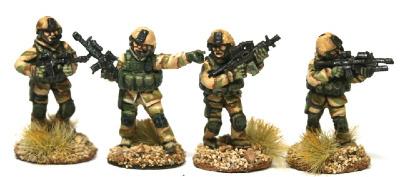 REF06 Rangers in Gotex Fireteam standing