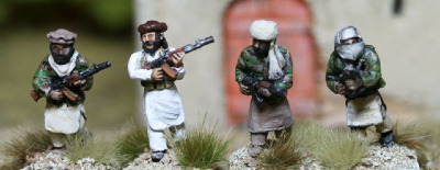 TAL11 Afghan Insurgents with AKs advancing
