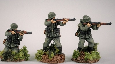 M36A02 German Infantry in M36 uniform and A frame K98 skirmishing