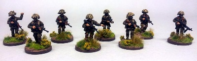 BAOR01 British Section in patrol poses