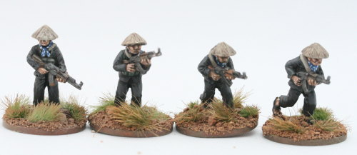 VC01 Viet Cong in straw hats with AK47 set A