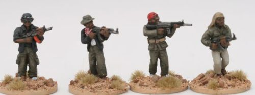 SOM07 Somali bosses/leaders skirmishing