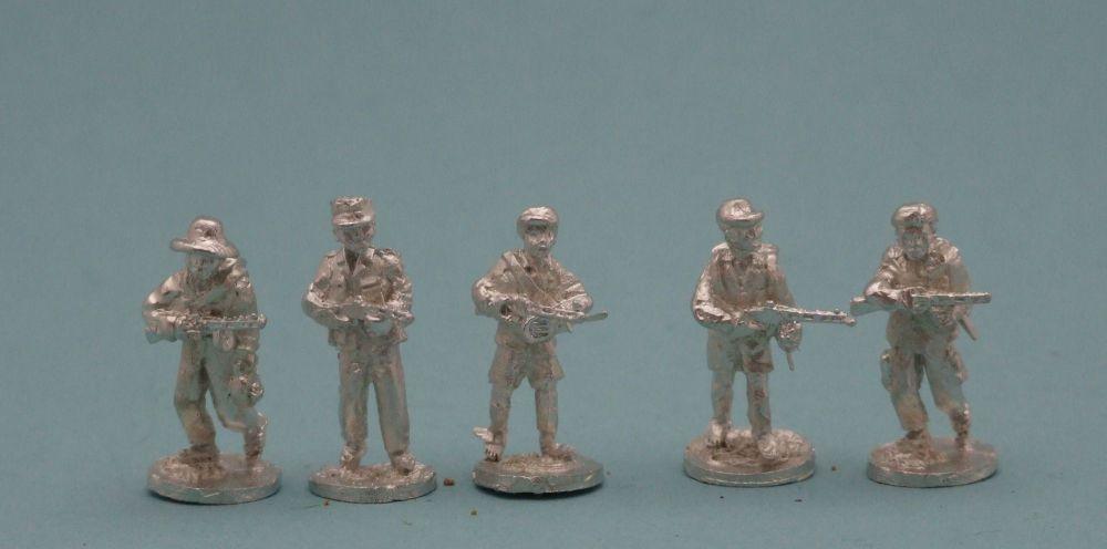TRB07 African Militia vintage Soviet Ppsh41 SMGs