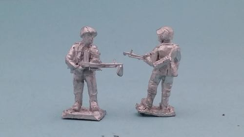 LTD12 WW2 Early Waffen SS test figure with Zb26 LMG