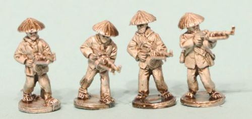 VC06 Viet Cong in straw hats with RPD LMGs