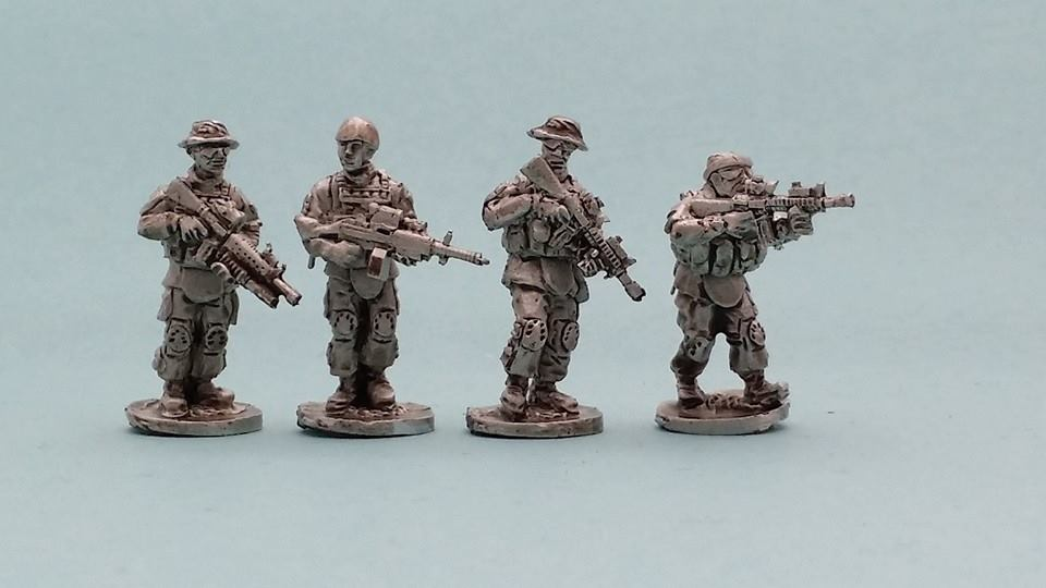 MCA18 USMC Patrol fireteam in MTV body armour and soft hats