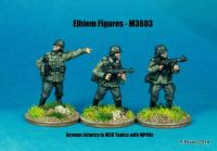 M36-03 German Infantry in M36 uniform NCOs with MP40s skirmishing
